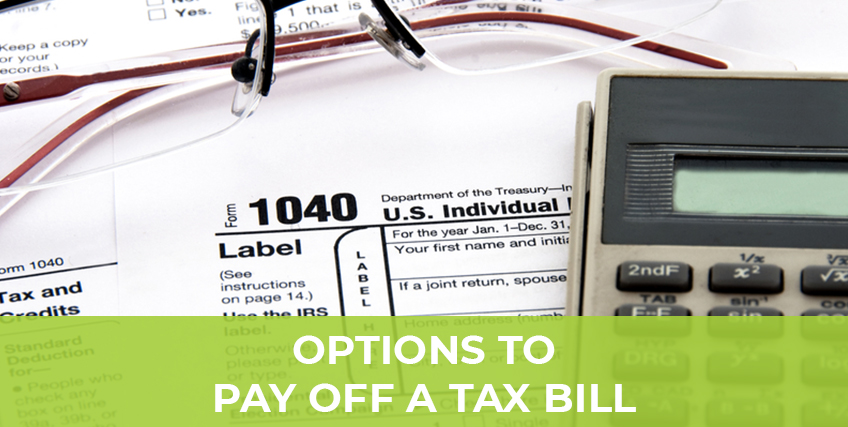 How To Finance Your Tax Obligation