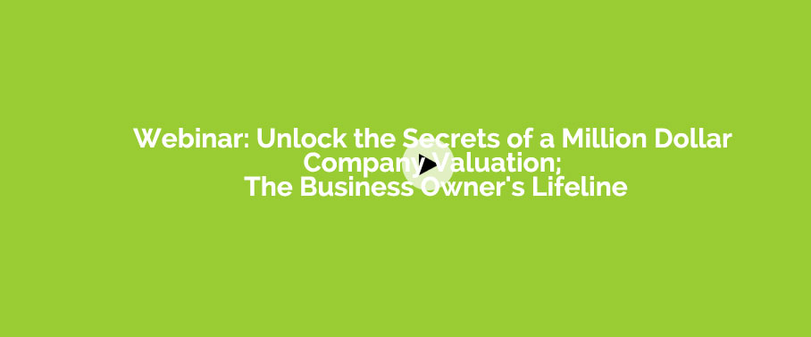 Unlock the Secrets of a Million Dollar Company Valuation; The Business Owner's Lifeline